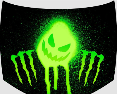 Винилография на капот monster energy