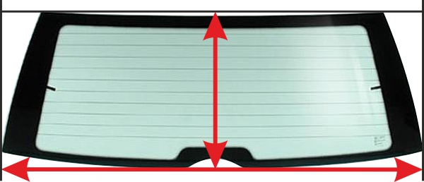 как правильно снять размеры заднего стекла